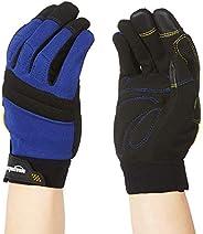 AmazonBasics Enhanced Flex Grip Work Gloves - Blue, L