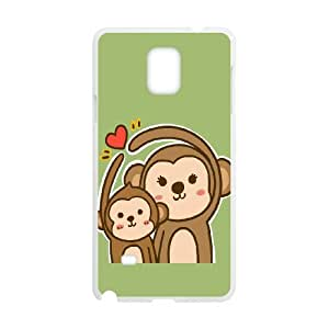 Samsung Galaxy Note 4 Phone Case With Cute Monkey Pattern