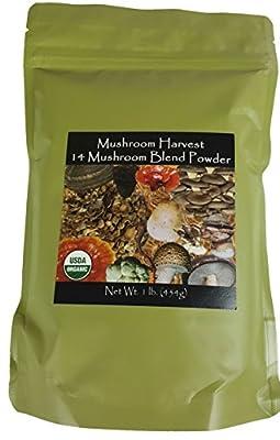 14 Mushroom Blend Powder CERTIFIED ORGANIC 1lb. Bulk --SAME GREAT PRODUCT, NEW LOOK!!