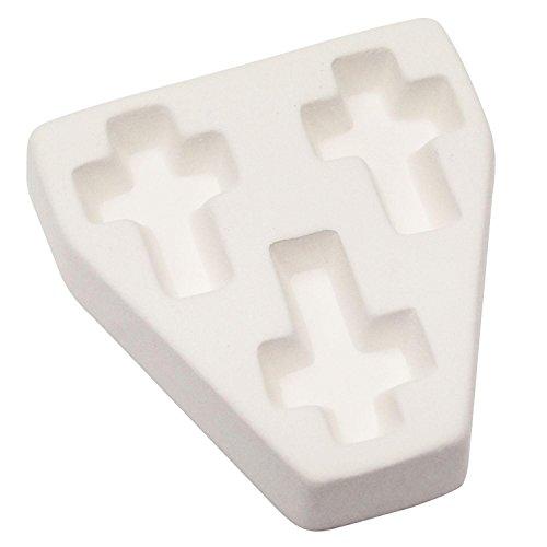 Trio Cross Casting Mold (Millefiori Glass Cross)