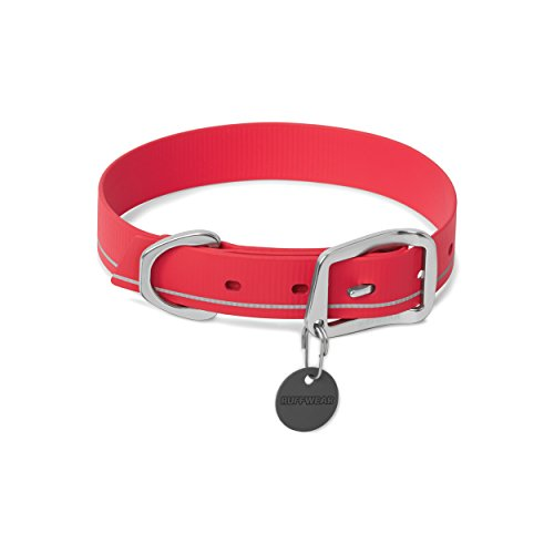 """RUFFWEAR - Headwater Waterproof, Stink-Proof, Reflective Dog Collar, Red Currant, 20""""-23"""""""