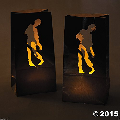 [12 HALLOWEEN Party Decoration Paper Undead ZOMBIE Walking Dead LUMINARY BAGS] (Zombie Queen Costumes)
