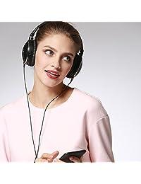 Active Auriculares con reducción de ruido, insermore over Ear Auriculares Plegable con Micrófono (para viajes, Hi Fi estéreo de auriculares para iPhone Android PC, última intervensión Carry Case Black