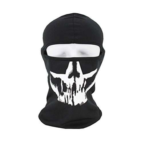 Mchoice Tactical Motorcycle Cycling Hunting Outdoor Ski Skull Face Mask Helmet - Oculos Clubmaster