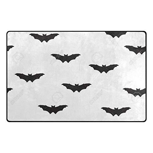 pengyong Bat Silhouette Pattern Holiday Halloween Non-Slip Floor Mat Home Decor Door Carpet Entry Rug Door Mat for Outdoor/Indoor Uses ()