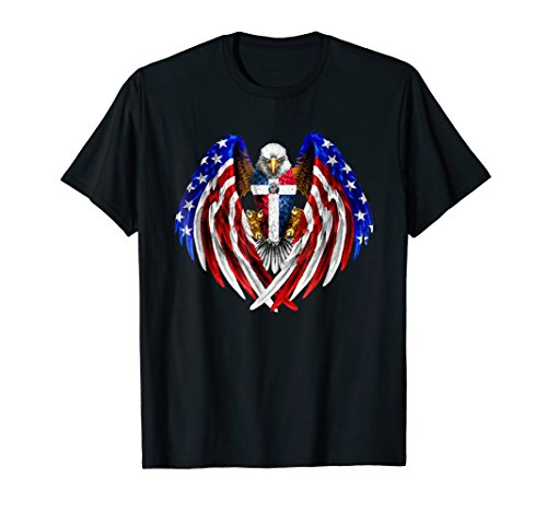 Dominican American Dominican Republic USA Flag Eagle TShirt -