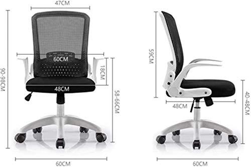 Datorstol hopfällbar kontorsstol hjulförsedd lyftsäte ergonomi justerbart armstöd studenter/sovsal/möte/träning fåtölj