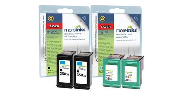 4 cartuchos de tinta para impresora HP Photosmart C4585 negro/351 ...
