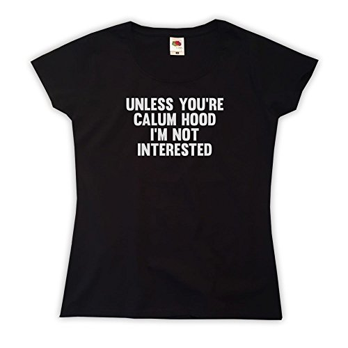 Outsider. Women's Unless You're Calum Hood I'm Not Interested T-Shirt - Black - Large