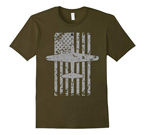 Mens B-17 Flying Fortress WWII Bomber Airplane Pilot T-Shirt Medium - Bomber B17