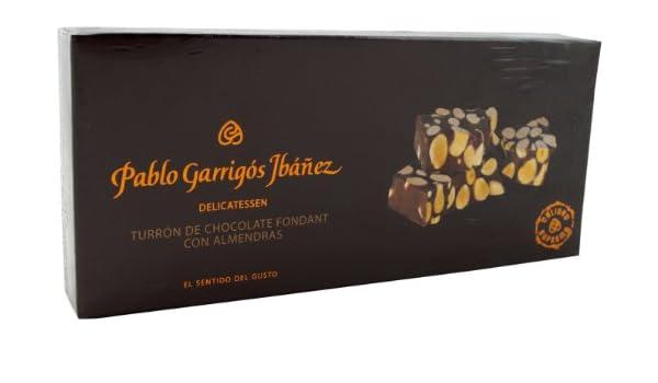 Pablo Garrigós Ibáñez Barra de Turrón de Chocolate Fondant con Almendras - 300 gr: Amazon.es: Alimentación y bebidas