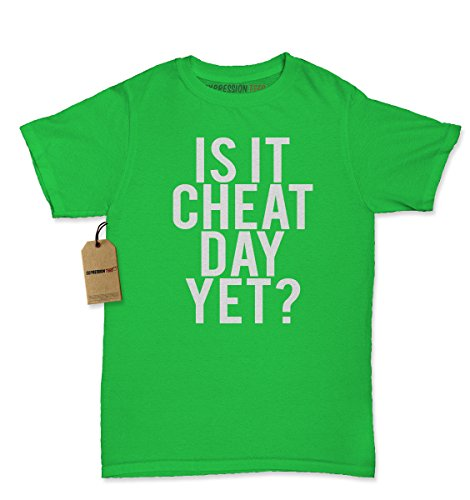 Womens Is It Cheat Day Yet? T-Shirt Medium Kelly Green