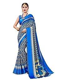 Elina fashion Saree for Women Cotton Art Silk Sarees for Indian Wedding Gift, Sari and Unstitched Blouse Piece
