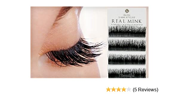 ed684622121 Amazon.com : BLINK 100% Real Mink Fur Lashes C Curl 15mm for Eyelash  Extension with Free iBeautiful Sample : Fake Eyelashes And Adhesives :  Beauty