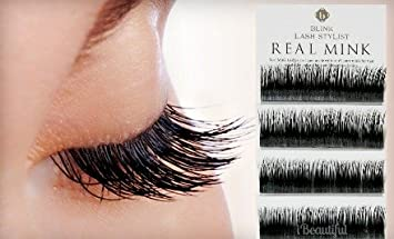 d36516f03f6 Amazon.com : BLINK 100% Real Mink Fur Lashes C Curl 15mm for Eyelash  Extension with Free iBeautiful Sample : Fake Eyelashes And Adhesives :  Beauty