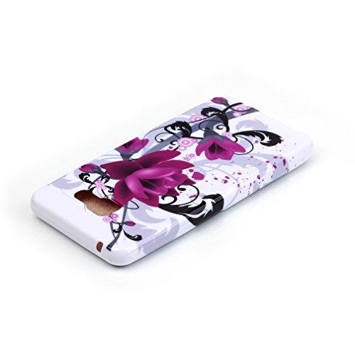 Funda de gel de silicona KATUMO® para móvil Samsung Galaxy A3 SM-A310F (2016), con cubierta de goma protectora posterior, de flores multicolores, compatible con Samsung Galaxy A3, color azul Flor morado