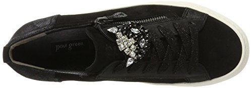 Paul Green 4542001, Scarpe stringate donna Nero (Nero)