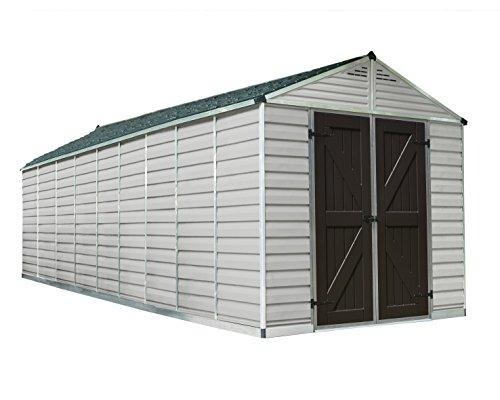 - Palram SkyLight Storage Shed - 8' x 20' - Tan