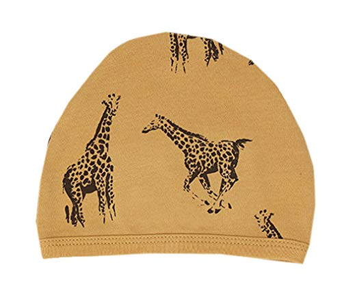 L'ovedbaby Unisex-Baby Organic Infant Cap (Honey Giraffe, 3-6 Months)