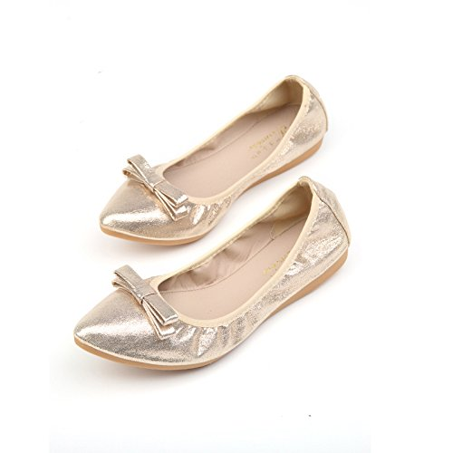 Donyyyy shoes Gold 2018 Thirty Big shoes ballet training size big flower shoes dancing girls' leisure new small four shoes code small 45 41 code children's women's xrrwv1IS