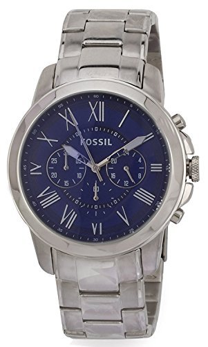 fossil men 39 s fs4844 grant stainless steel watch with link. Black Bedroom Furniture Sets. Home Design Ideas