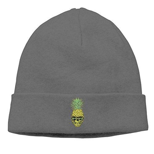 Unique Summer Beach Pineapple Sunglasses Skulls Mens Knit Beanies Hats for Womens Unisex Cotton Winter Trucker Baseball Caps -
