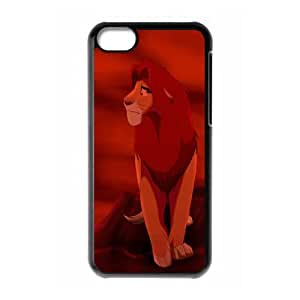 iPhone 5c Cell Phone Case Black Pumbaa Simba Timon S0380216