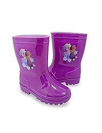 Disney Frozen Elsa and Anna Girls Toddler Rain Boots Purple