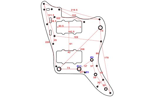 Amazon Com Pickguard For Jazzmaster White 3 Ply Wbw Allparts Pg