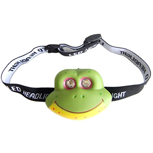 Animal LED Children's Head Torch Camping Light Bright Lamp Kids Night Headlamp Headlight(Cat) FitLit