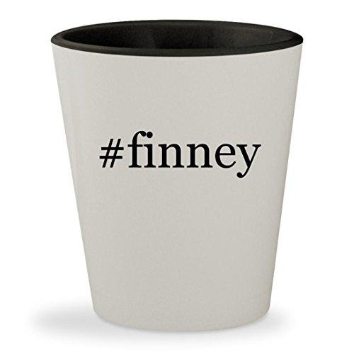 #finney - Hashtag White Outer & Black Inner Ceramic 1.5oz Shot Glass