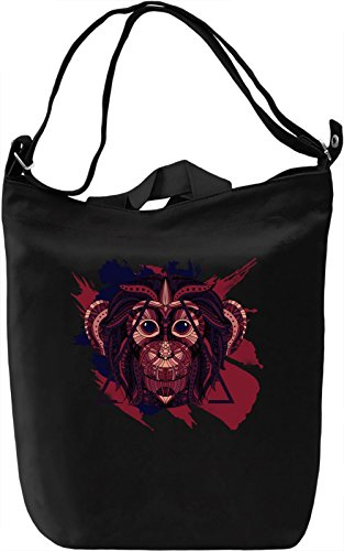 COLOURFUL MONKEY Borsa Giornaliera Canvas Canvas Day Bag| 100% Premium Cotton Canvas| DTG Printing|