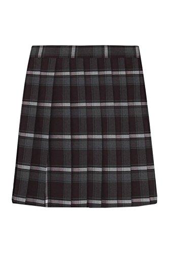French Toast Big Girls' Plaid Pleated Skirt, Burgundy, - Multi Pleated Skirt