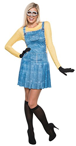 Minions Movie Womens Plus Size Minion Costumes (UHC Women's Minion Outfit Movie Theme Fancy Dress Halloween Funny Costume, L (12-14))