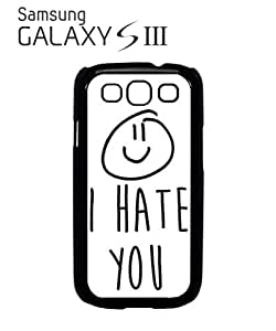 I Hate You X Smiley Mobile Cell Phone Case Samsung Galaxy S3 Black