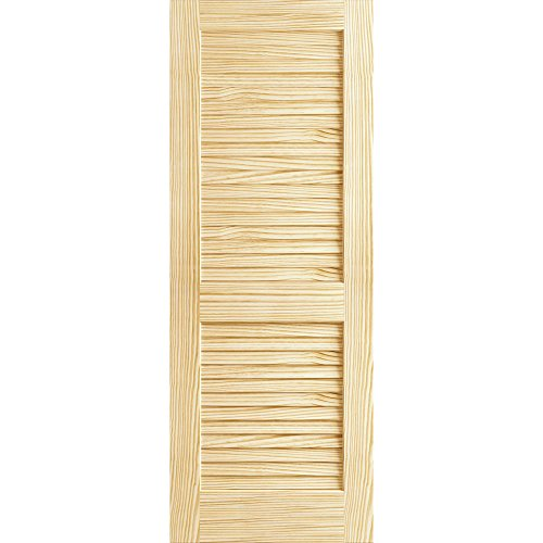 Plantation Louvered Unfinished Solid Core Pine Interior Slab (80x28)