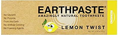 Redmond Earthpaste - Natural Non-Flouride Toothpaste, LemonTwist, 4 Ounce Tube