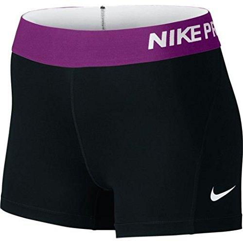 Nike Women's Pro Cool 3-Inch Training Shorts (Black/Cosmic - Womens Shorts Inch 3