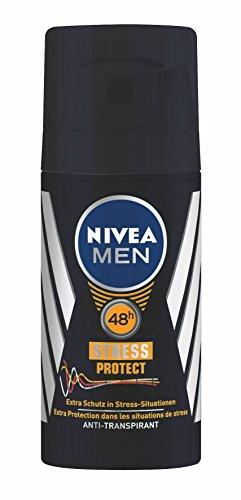 Nivea Men Deo Stress Protect Antitranspirant Mini Spray, 3er Pack (3 x 35 ml)