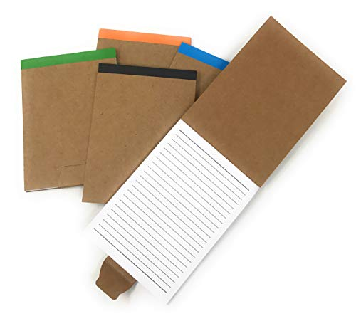 20 Bulk Fold Over Notepad Notebook Assortment - Made From 80% Post Consumer Recycled Paper ...