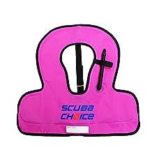 Scuba Choice Kid's Snorkel Vest with Name Box, Purple
