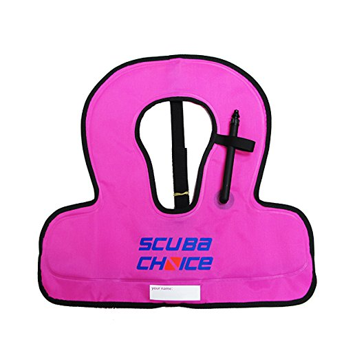 Scuba Choice Kid's Snorkel Vest with Name Box, Purple