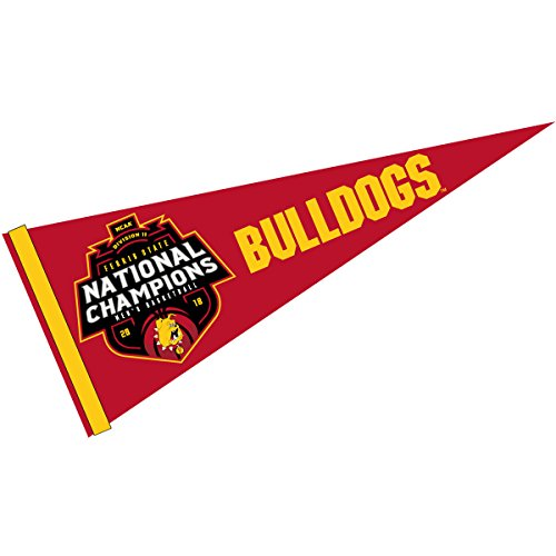 (College Flags and Banners Co. Ferris State Bulldogs Div 2 Mens Basketball 2018 Champions Pennant)