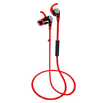 DinoTwin T2 Premium Sport Ear Bluetooth Earbuds, Sweat Resistant, Inline Remote Control (Hydro Edition) ~ Lifetime Guaranty Against Sweat ~
