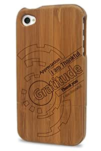 XA Wireless 90500 The Message 500 Case for iPhone 4/4S - 1 Pack - Retail Packaging - Bamboo Wood