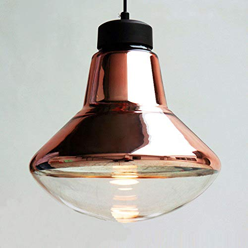 FidgetFidget Modern Tom Copper Glass LED Pendant Lamp Suspension Light Chandelier Lighting