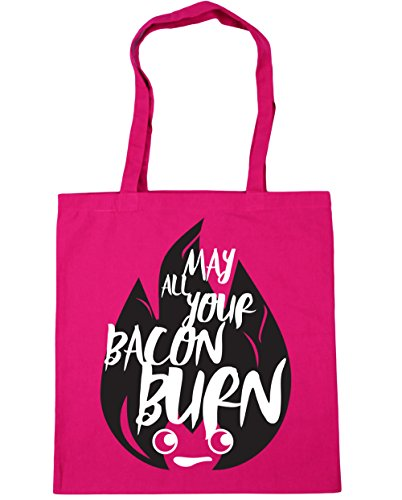 Bacon Burn Fuchsia May Tote All litres 42cm 10 Beach x38cm Shopping Gym HippoWarehouse Your Bag tgwqRfII