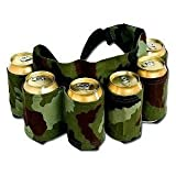 Redneck 6 Pack Beer and Soda Can Holster Belt, Camouflage, Outdoor Stuffs