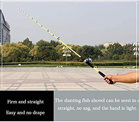 LMEIQUN, 1.6M 1.8M 2.1M Yellow Spinning Rod Fishing Rod olta