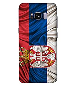 ColorKing Football Serbia 02 Multi Color shell case cover for Samsung S8 Plus